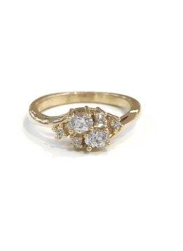 Gold April Birthstone Ring SZ 8
