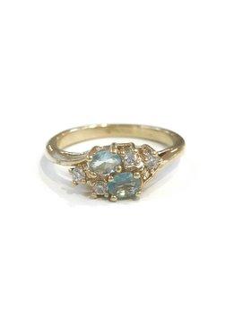 Gold March Birthstone Ring SZ 8