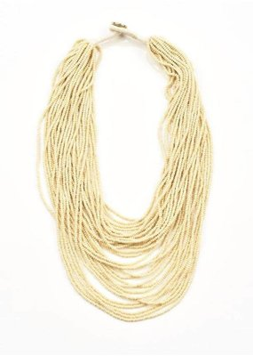 Ink + Alloy Ivory Seed Bead Multi-Layer Necklace