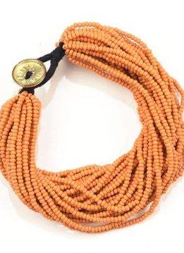 Ink + Alloy Tumeric Seed Bead Multi-Layer Bracelet