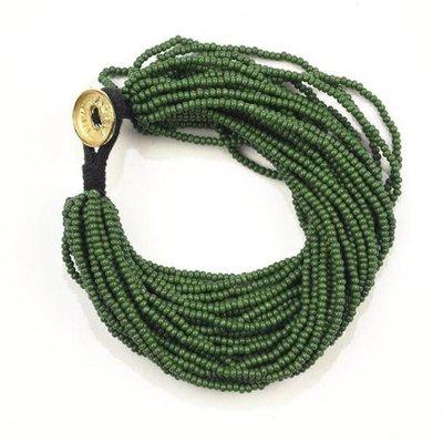 Ink + Alloy Emerald Seed Bead Multi-Layer Bracelet