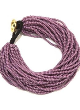 Ink + Alloy Lilac Seed Bead Multi-Layer Bracelet