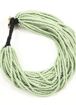 Ink + Alloy Mint Green Seed Bead Multi-Layer Bracelet