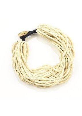 Ink + Alloy Ivory Seed Bead Multi-Layer Bracelet