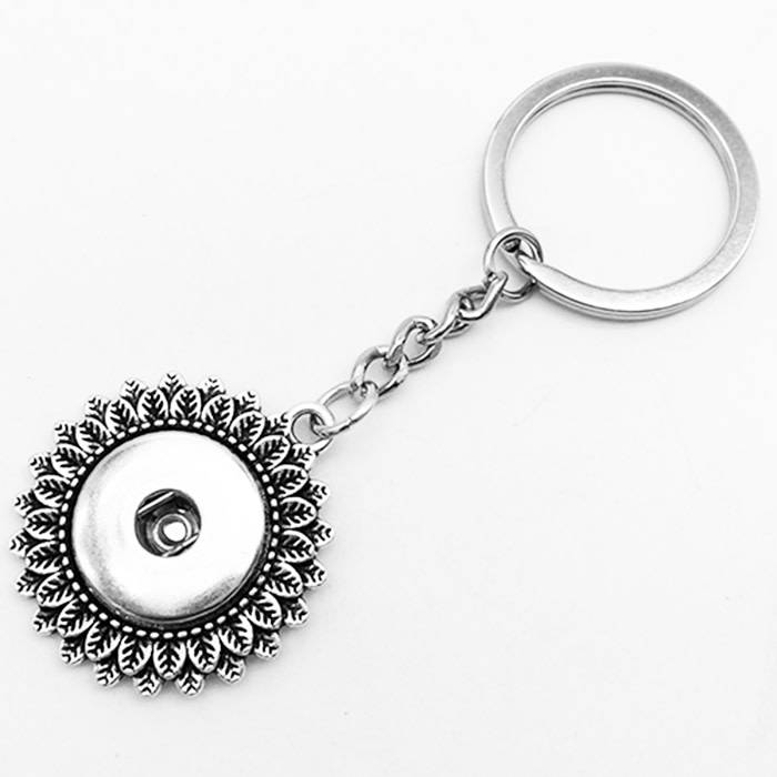 Flower Snap Keychain