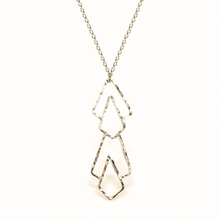 Sloane 14k Gold Filled Deco Pattern Long Necklace