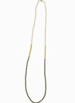 Ink + Alloy Mustard and Olive Simple Color Block Coconut Necklace