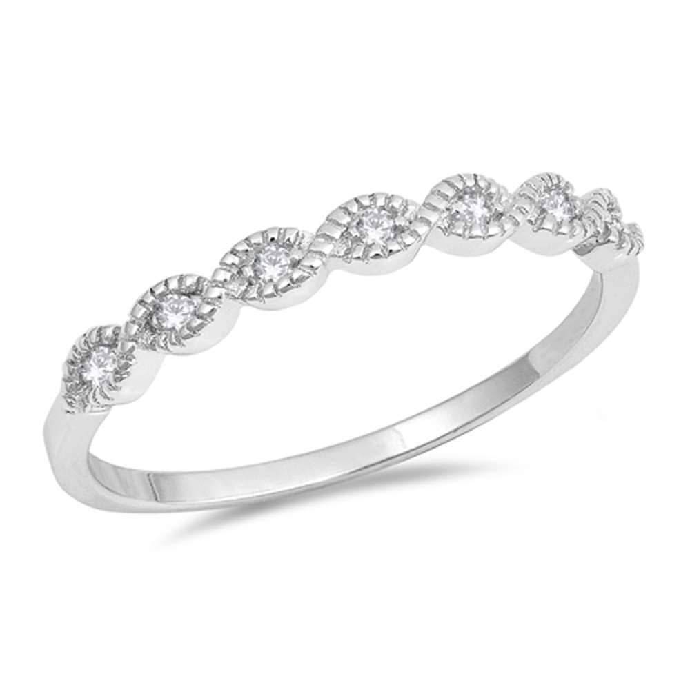 Sterling Silver Dainty Cubic Zirconia Ring