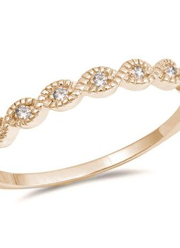 Sterling Silver Yellow Gold Dainty CZ Ring