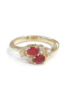 Gold July Birthstone Ring SZ 5