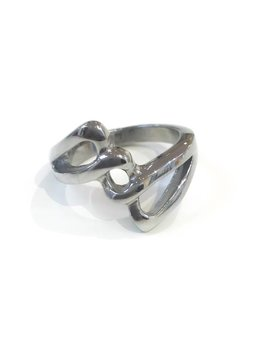 Stainless Steel Weaved Ring  Size 6