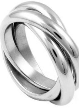 Multi Stainless Steel Ring SZ 6