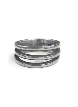 Stainless Steel 3 Band Ring 6