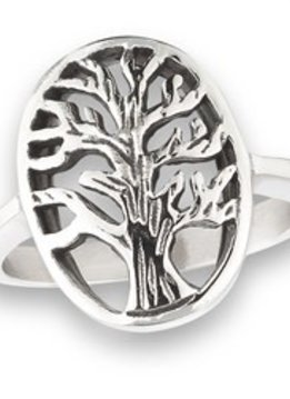 Stainless Steel Tree Ring  Silver 9