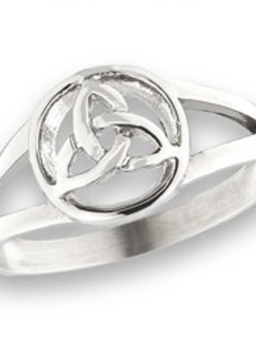 Stainless Steel Celtic Triquetra Ring SZ 8