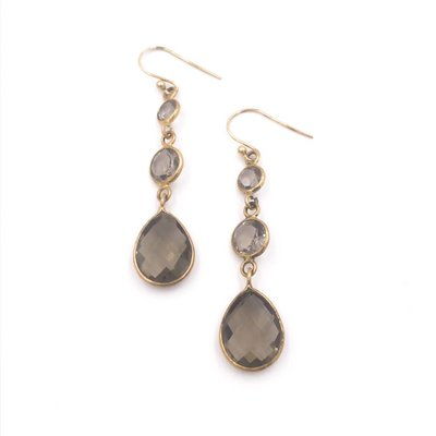 Smokey Quartz Sterling Sliver Earrings