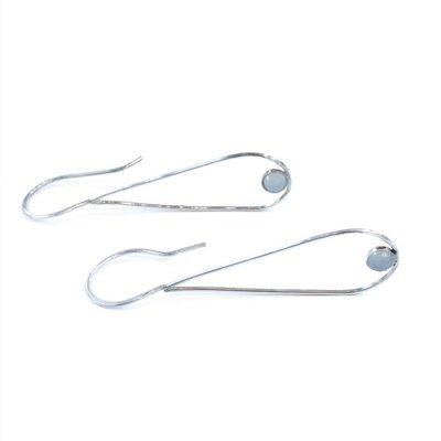 Sloane Sterling Silver Teardrop Moonstone Earrings