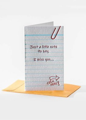 Elum I Miss You Mini Note