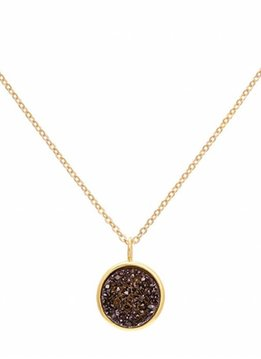 Sonya Renee Pebbles Black Drusy Necklace