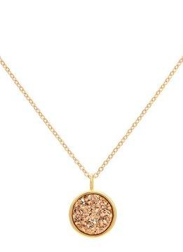 Sonya Renee Pebbles Rose Drusy Necklace