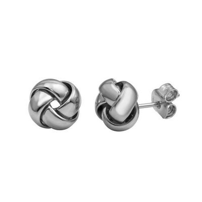 Qualita In Argento Italian Sterling Silver Knot Studs