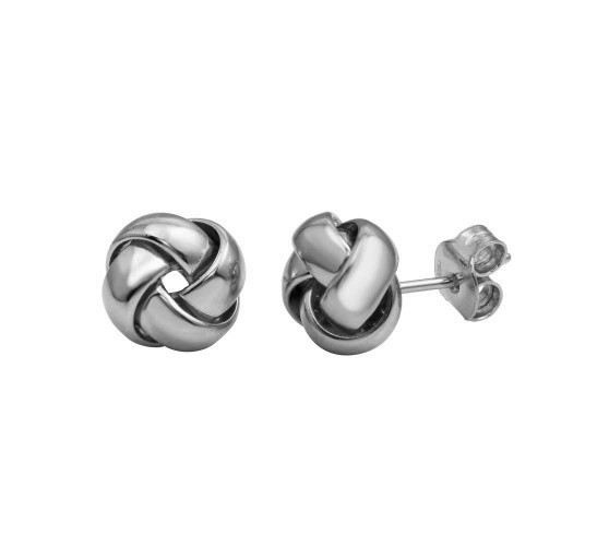 Italian Sterling Silver Knot Studs
