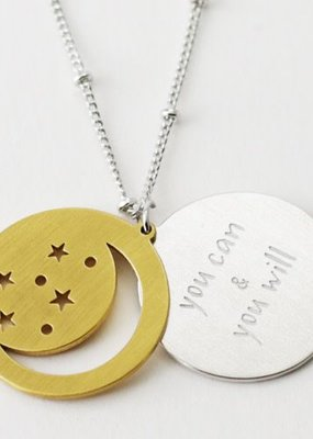 Cool & Interesting Moon Disc You Can & You Will Necklace