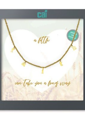 Cool & Interesting Gold Faith Necklace