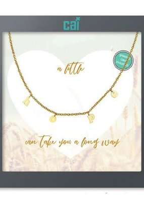 Cool & Interesting Gold Hope Necklace