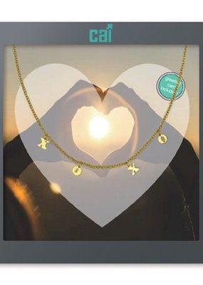 Cool & Interesting Gold Xoxo Necklace