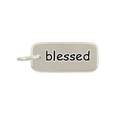 Sterling Silver Word Charms Blessed