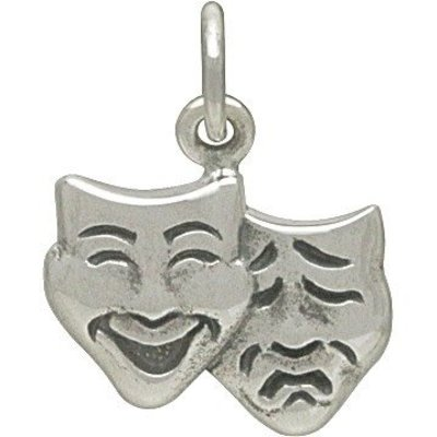 Sterling Silver Theater Mask Charm