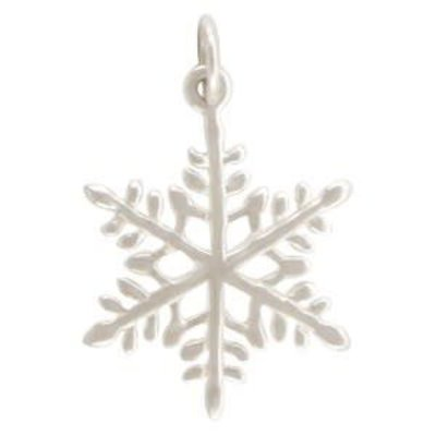 Sterling Silver Large Snowflake Charm