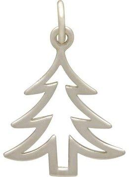 Sterling Silver Flat Christmas Tree Charm