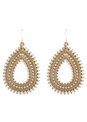 Splendid Iris Boho Teardrop Earrings Gold