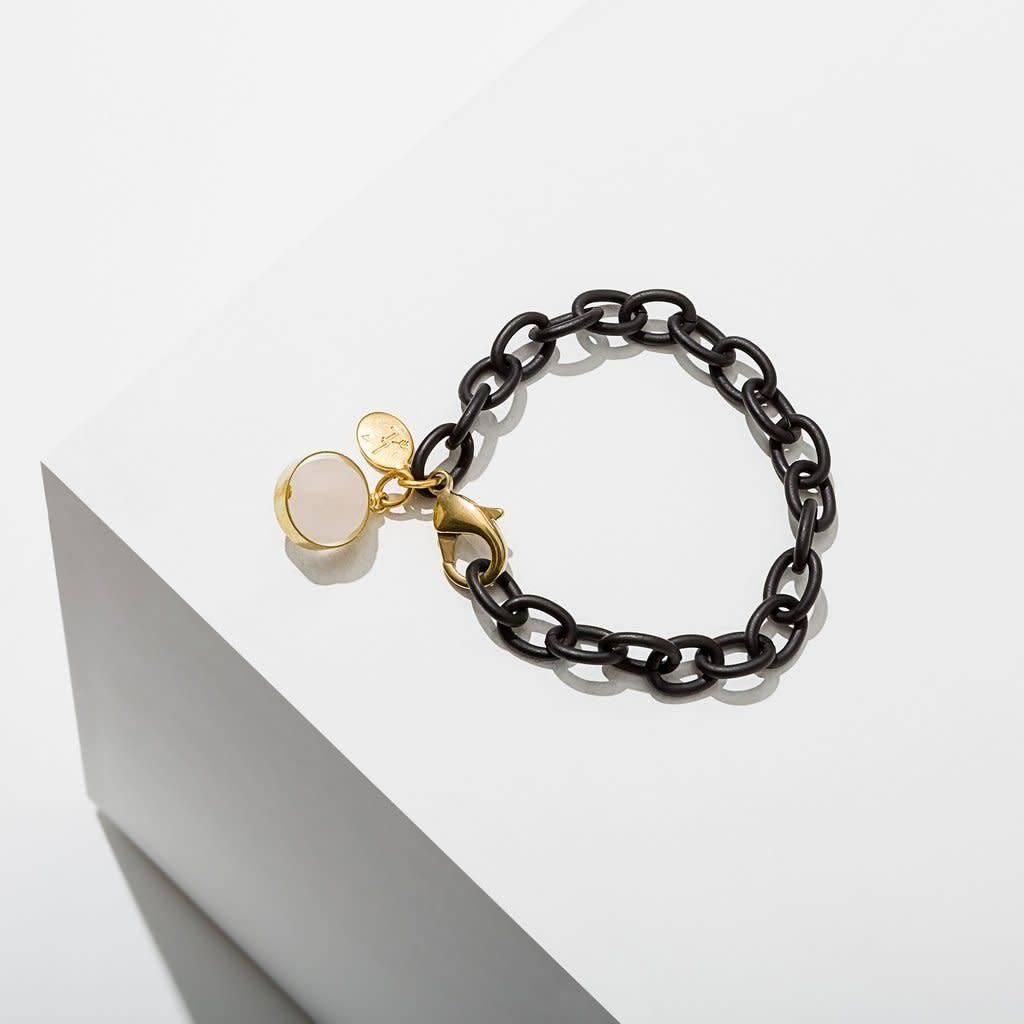 Rose Quartz Dahlia Bracelet