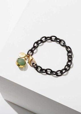 Larissa Loden Green Aventurine Dahlia Bracelet