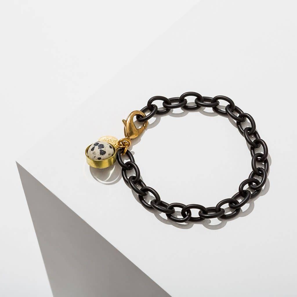 Dalmatian Jasper Dahlia Bracelet