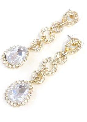Gold Link Rhinestone Earring