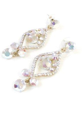AB Rhinestone Gold Earrings