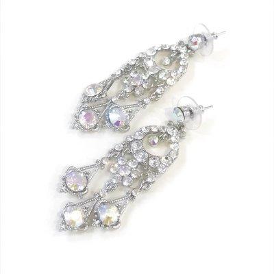 Silver AB/Clear Rhinestone Earring