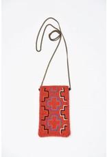 Ink + Alloy Red Multi Cross Small Beaded Cross Body Bag