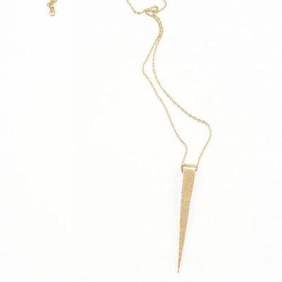 "Ink + Alloy Brass Spike 16"" Pendant Necklace"