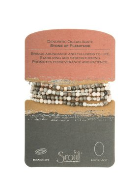 Scout Dendritic Ocean Agate Stone Wrap