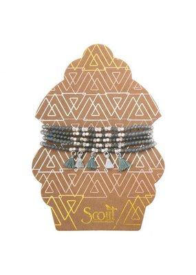 Scout Mineral & Silver Metallic Tassel Wrap