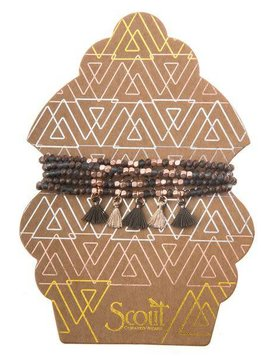 Scout Bronze & Rose Gold Metallic Tassel Wrap
