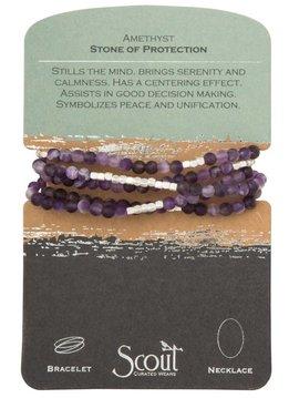 Scout Amethyst Stone Wrap Bracelet/ Necklace