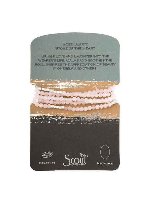 Scout Rose Quartz Stone Wrap