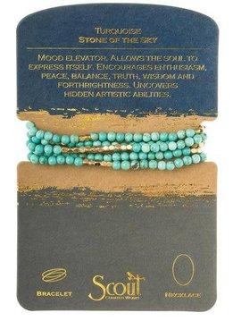 Scout Turquoise Stone Wrap Bracelet / Necklace