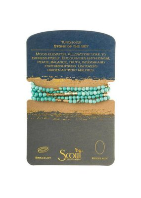 Scout Turquoise & Gold Stone Wrap